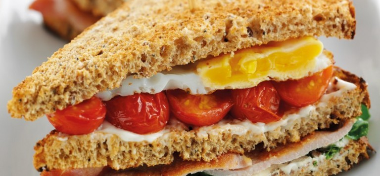 Breakfast Egg & Bacon Club